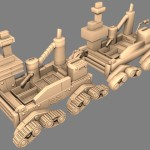 High and low poly Limar