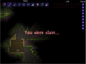 You were slain ...